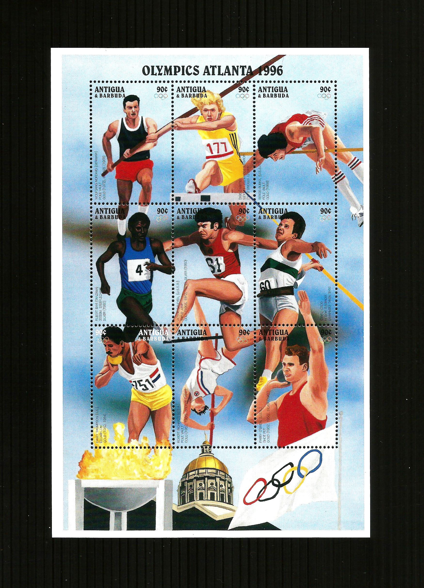 Antigua Barbuda Olympics minisheet Atlanta 1996 MNH