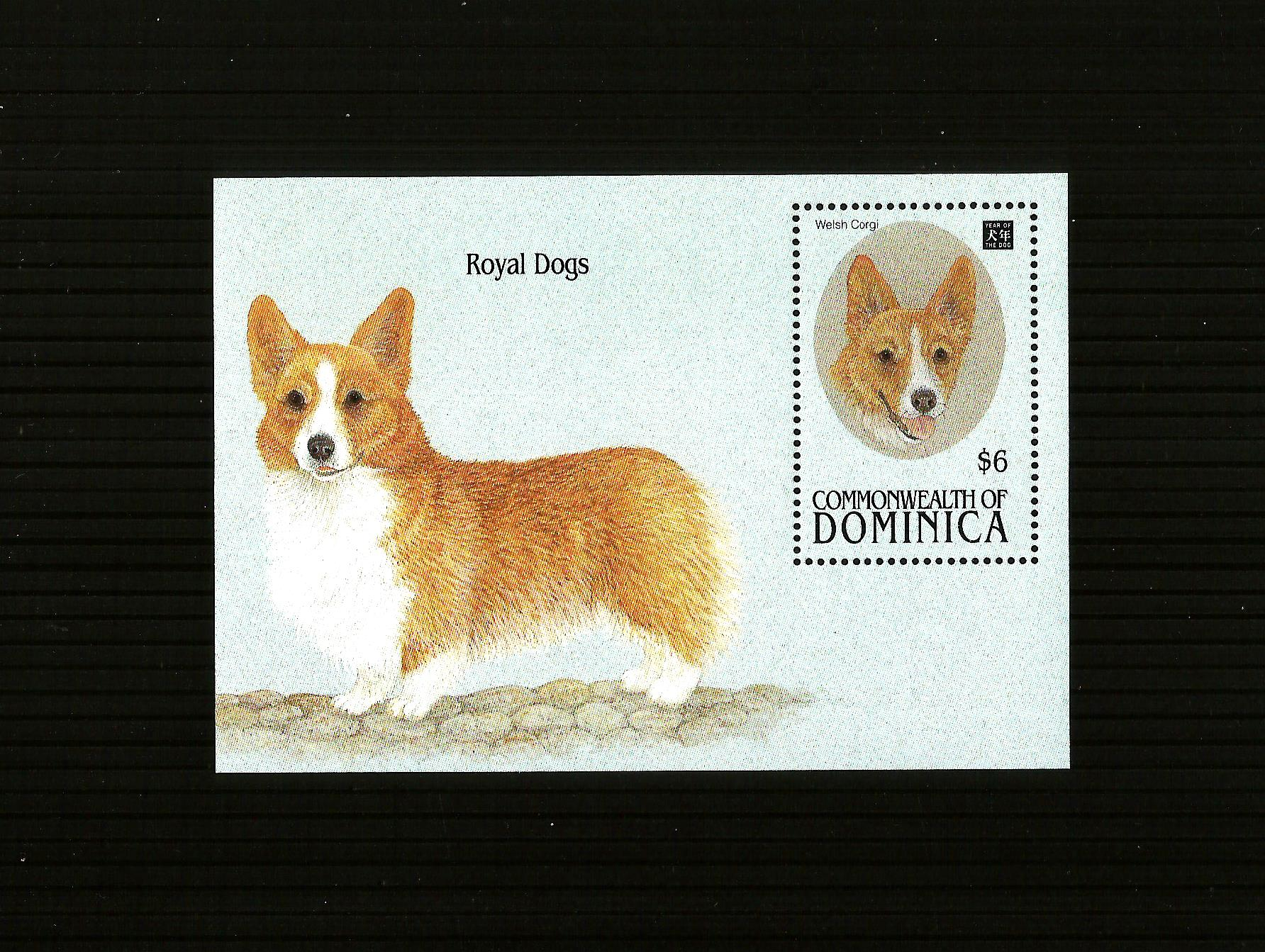 Dominica     Royal Dogs M/S MINT/ HINGED