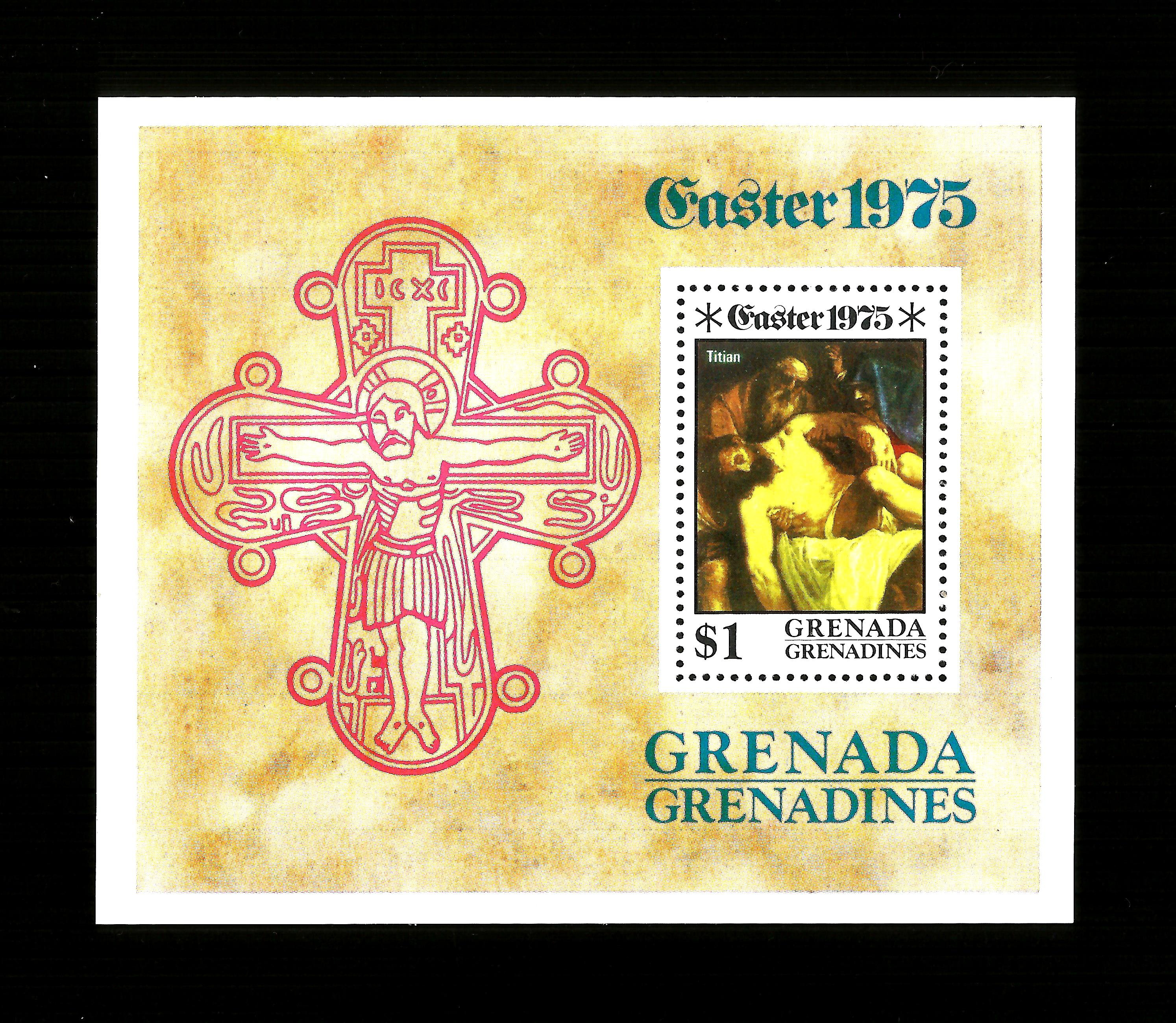 GRENADA - 1975 EASTER - MINISHEET - UNMOUNTED MINT MINIATURE SHE