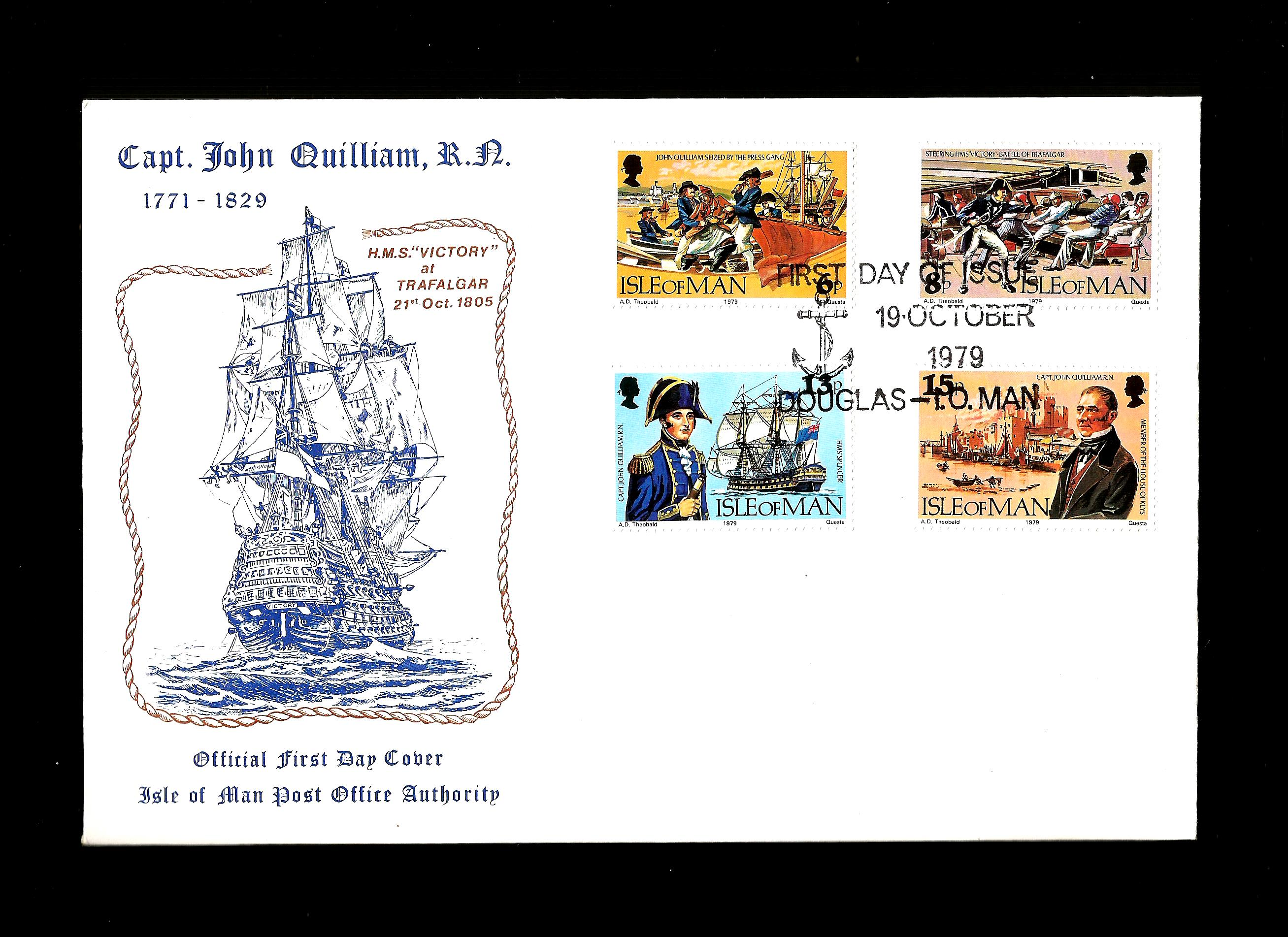 Isle Of Man 1979 FDC 150th Death Anniversary Of John Quillam - S