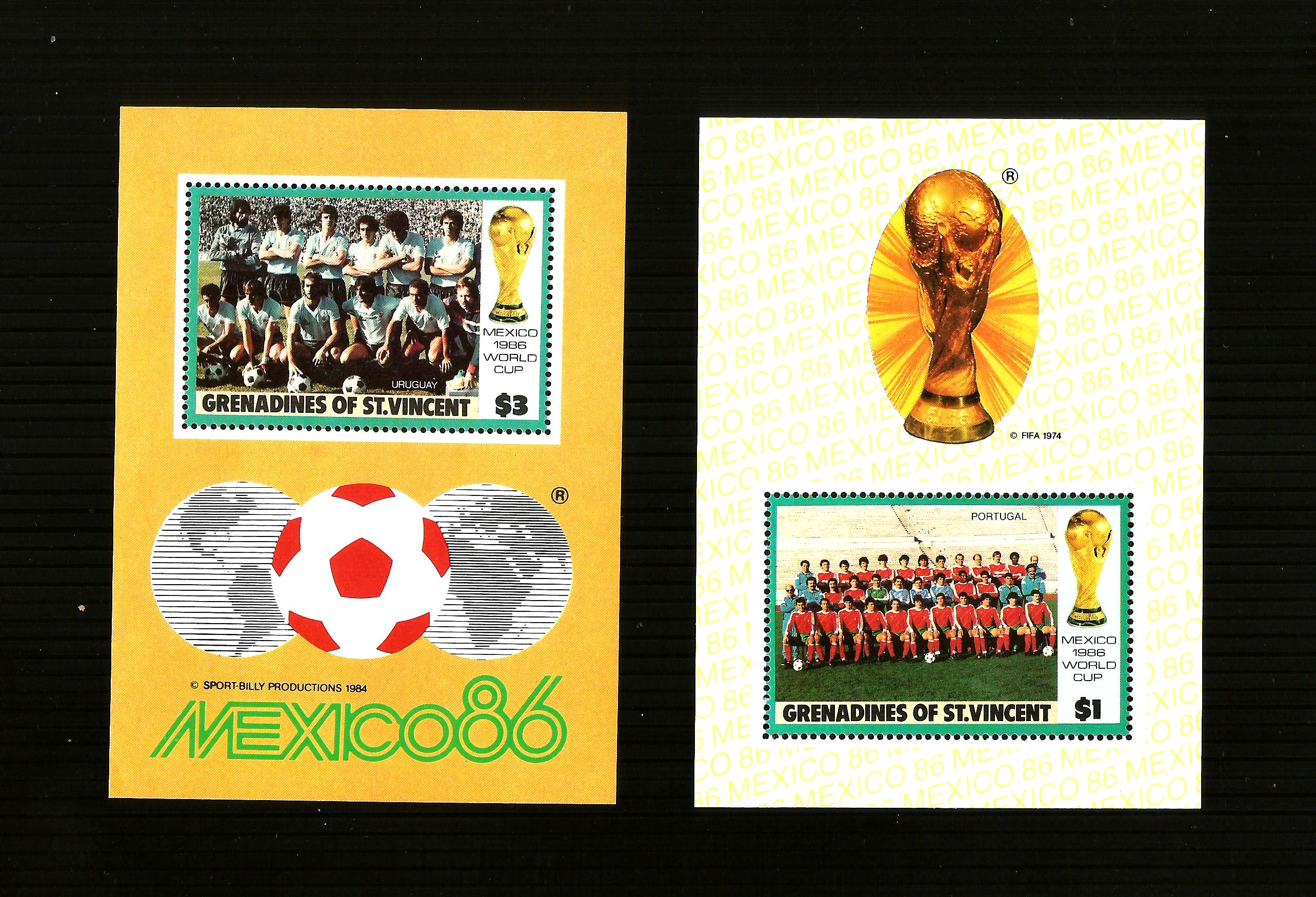 MEXICO 86 ....WORLD CUP ....2.MINI SHEETS M/MINT