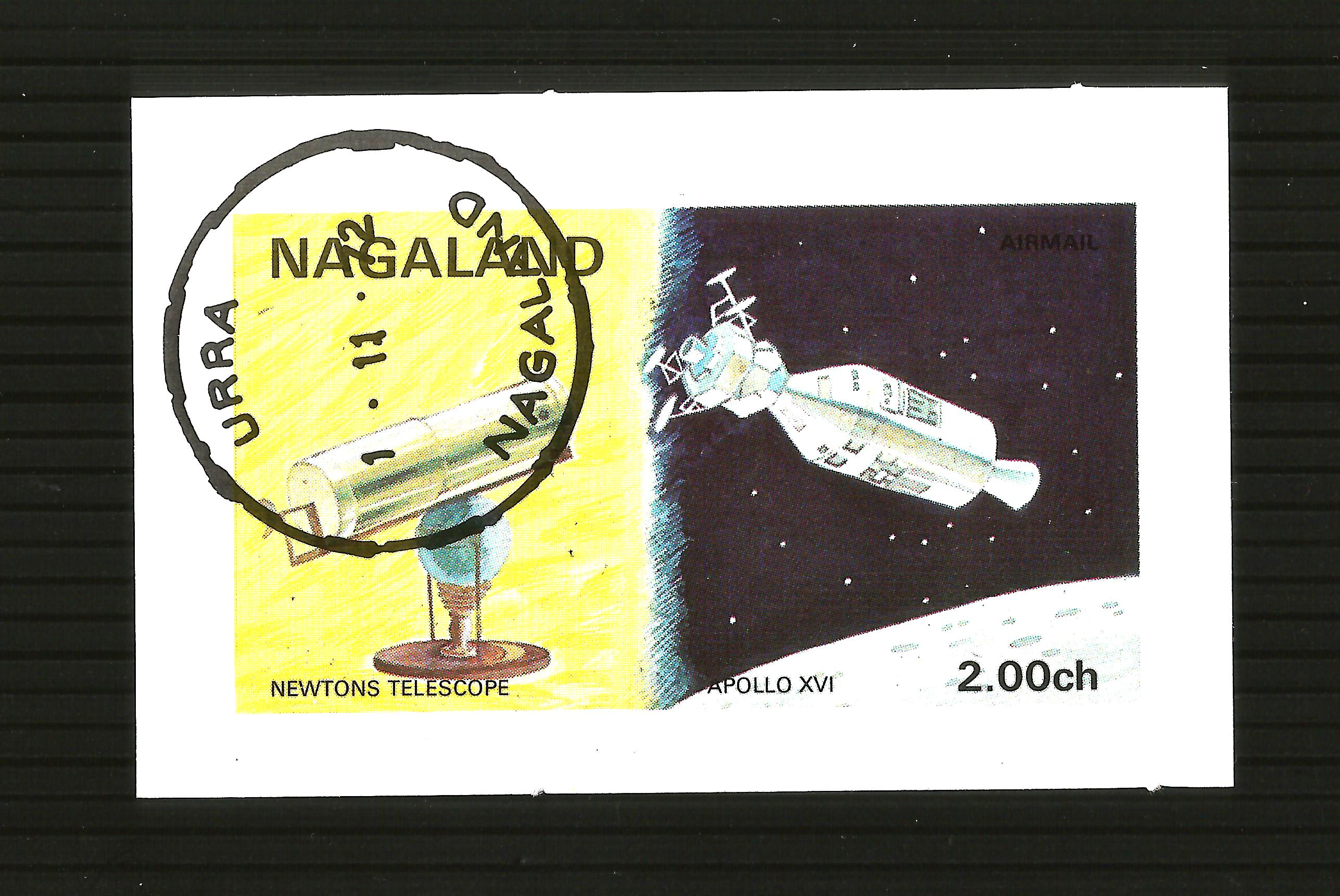 1972 NAGALAND SPACE  M/S IMPERF