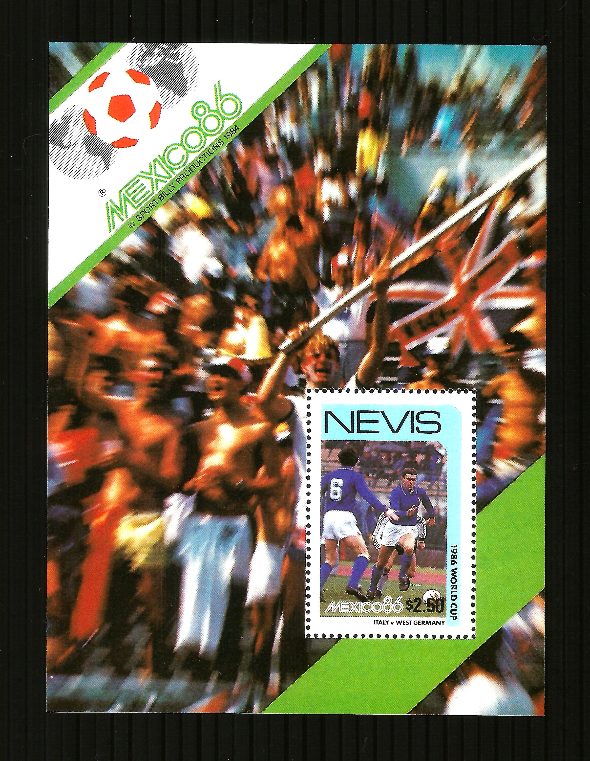 Nevis 1986 MEXICO Football  World Cup M/S MNH