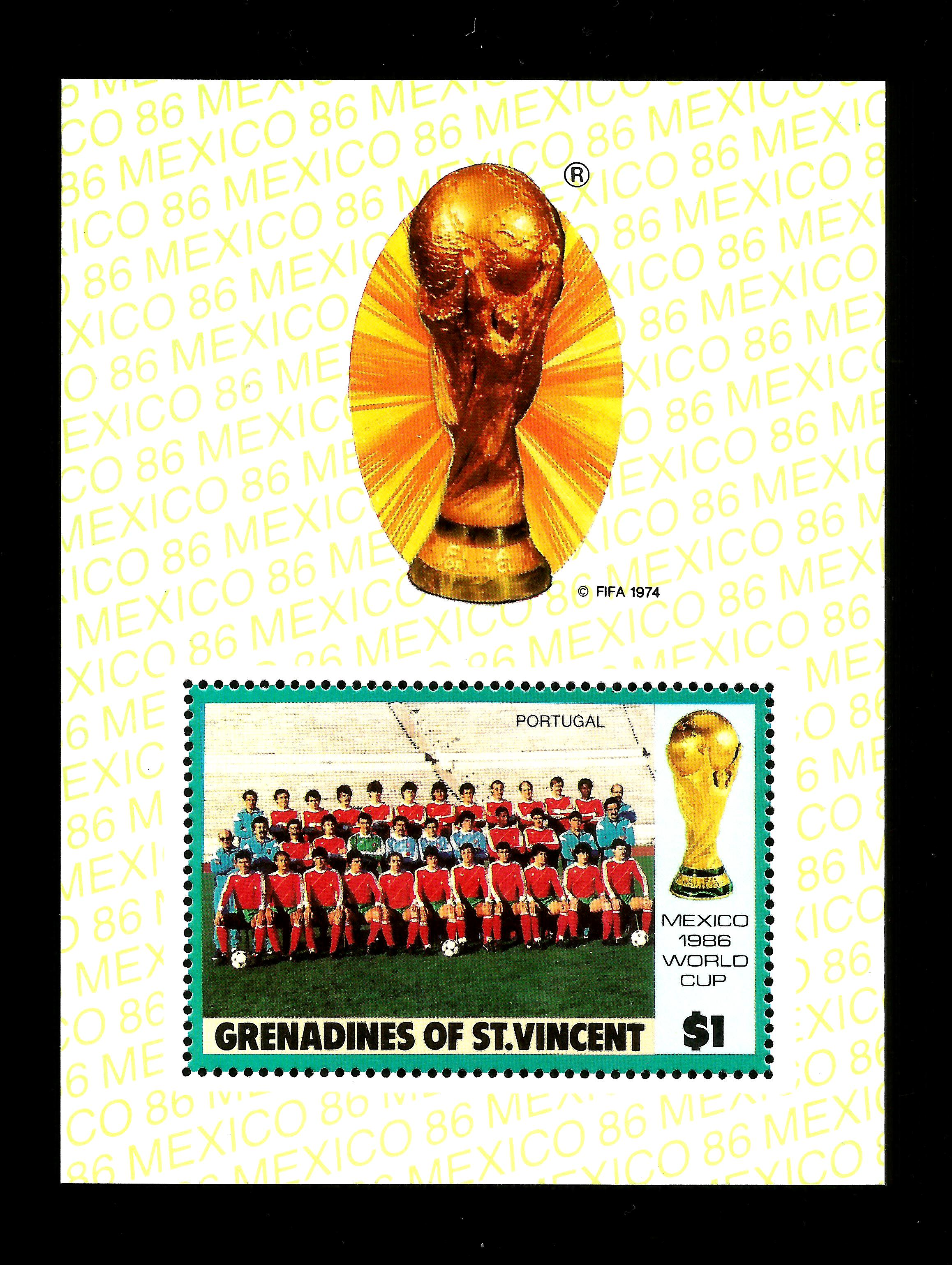 Grenadines Of St. Vincent 1986 $1 World Cup Football MNH M/S