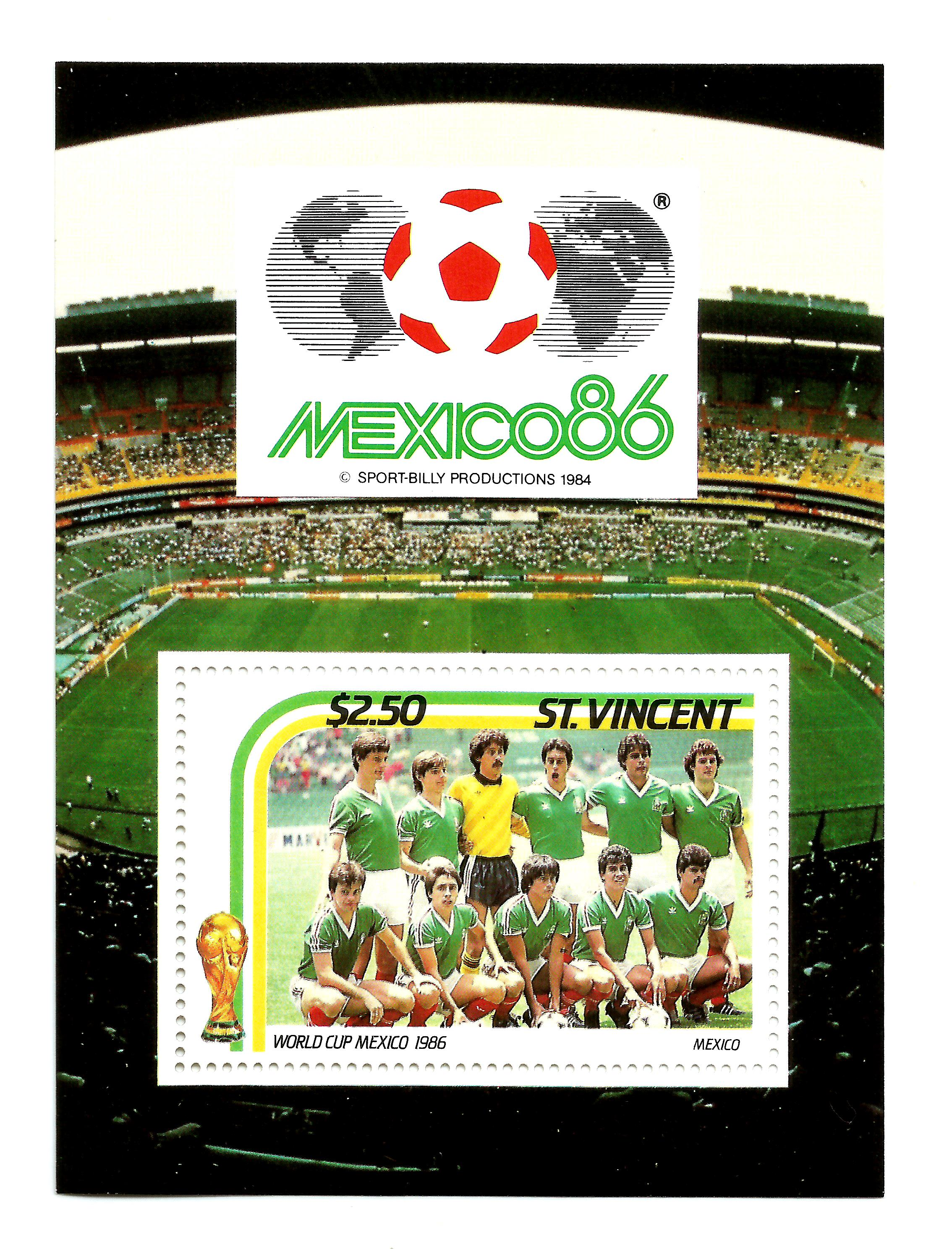 ST VINCENT - Football,  Mexico 1986 World Cup MNH Sheet