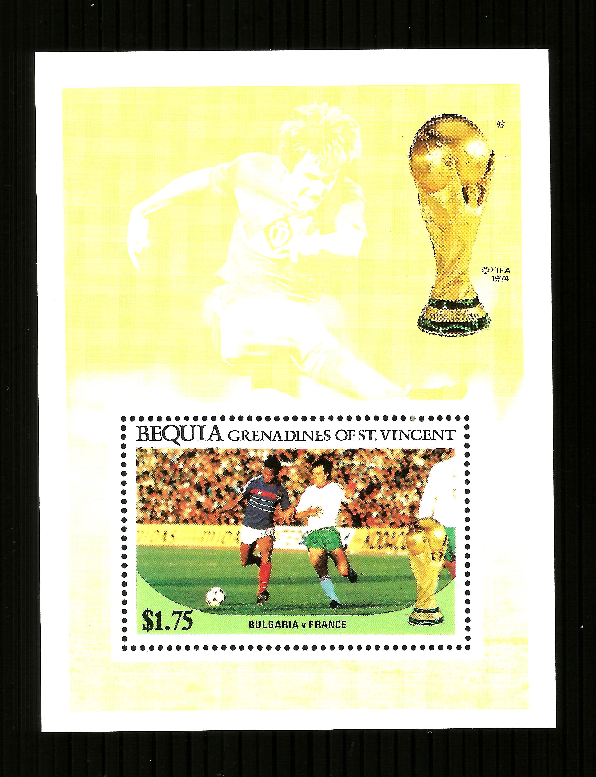 St Vincent Bequia  - 1986 WORLD CUP FOOTBALL $1.75 m/sheet