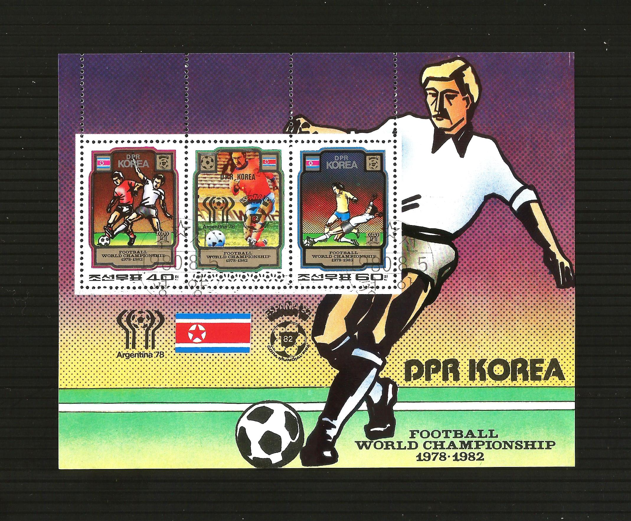 FOOTBALL - Korea, 1980 Argentina 1978, Spain 1982, World Cup Use
