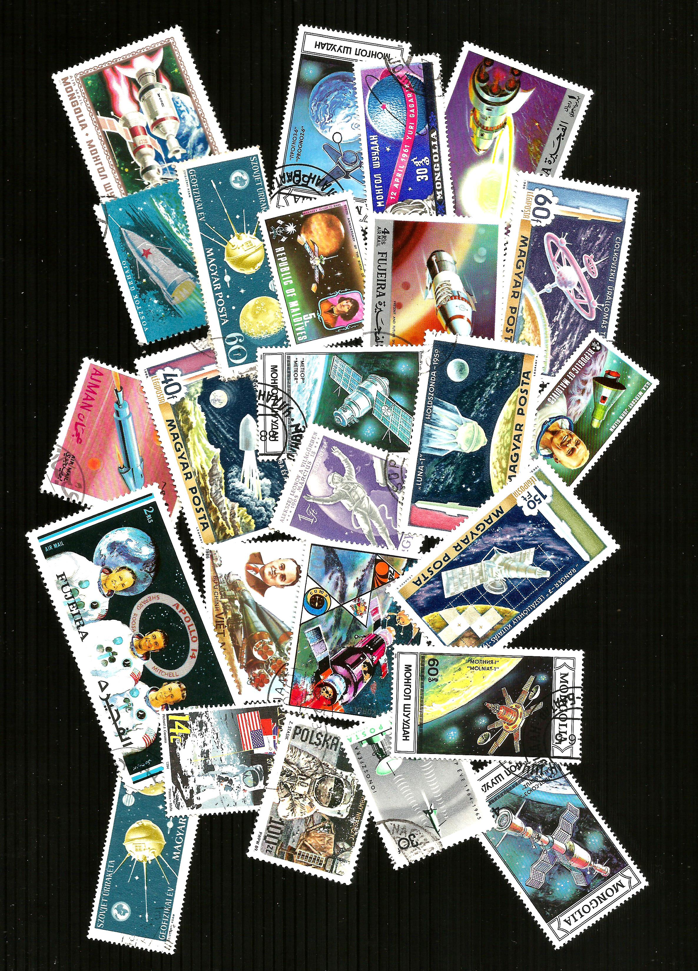 25 THEMATIC SPACE  POSTAGE   STAMP SELECTION   CTO