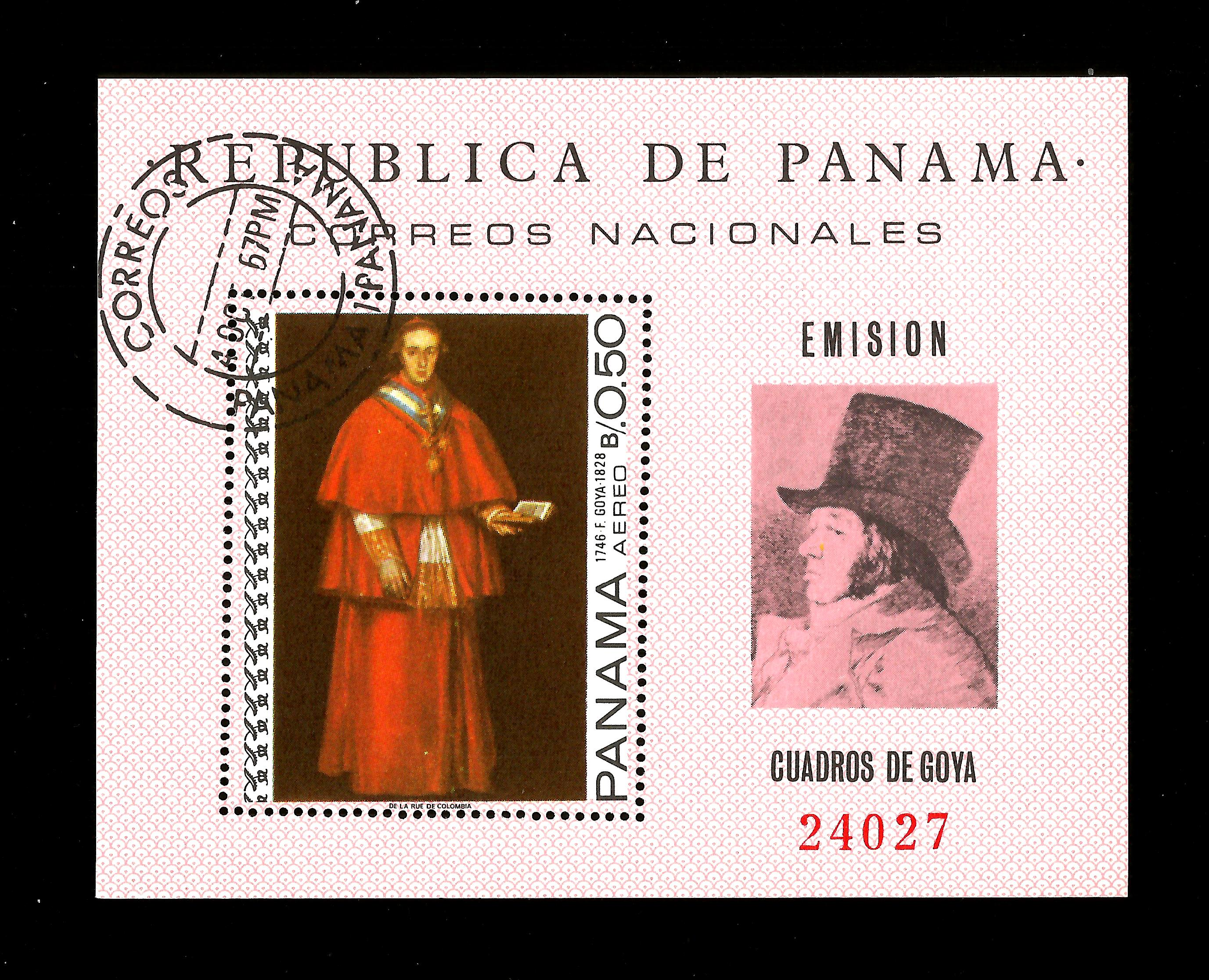 Panama 1967   used Goya, Paintings