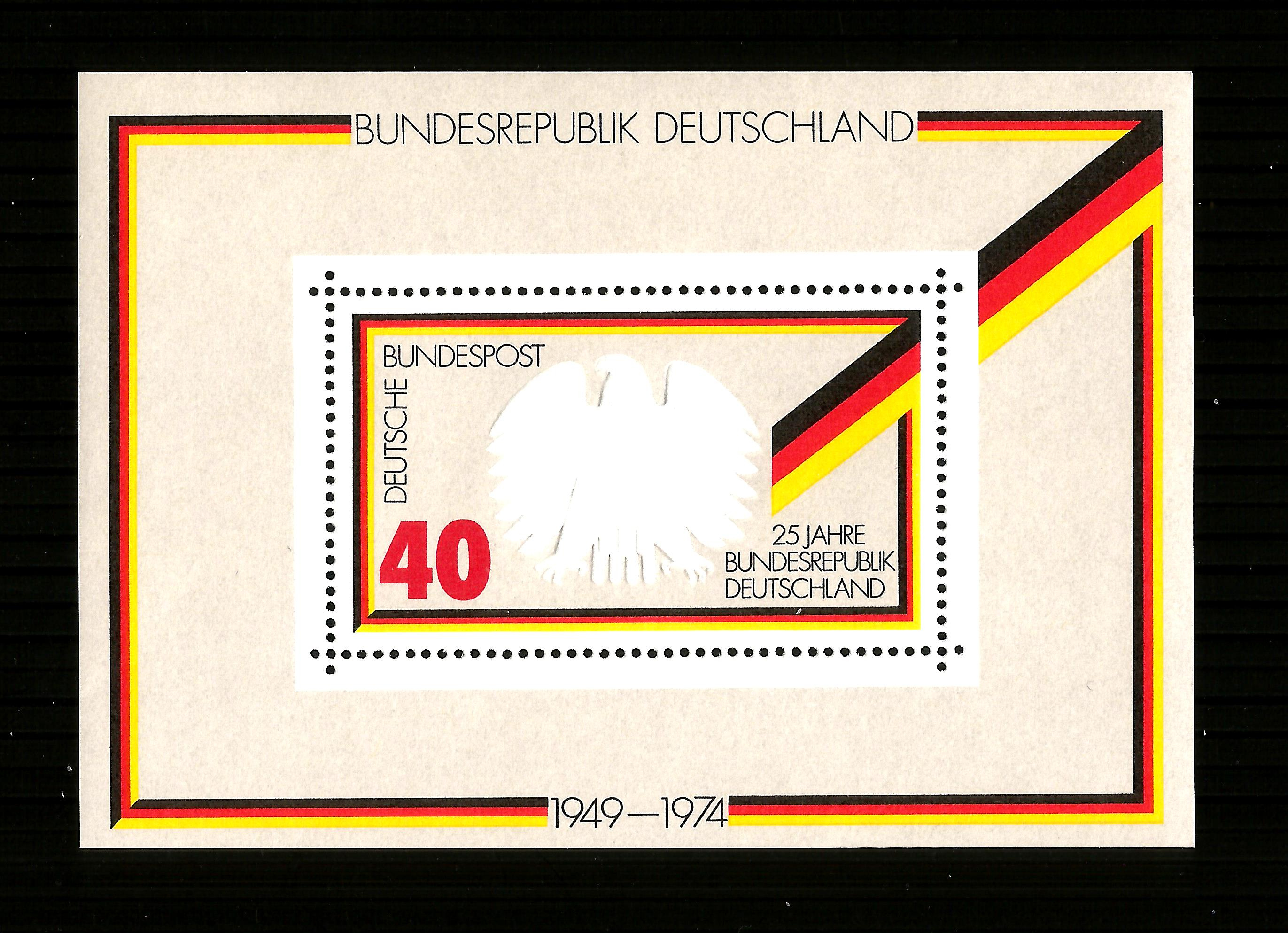Germany MNH 1974 The 25th Anniversary of the Federal Republic M/