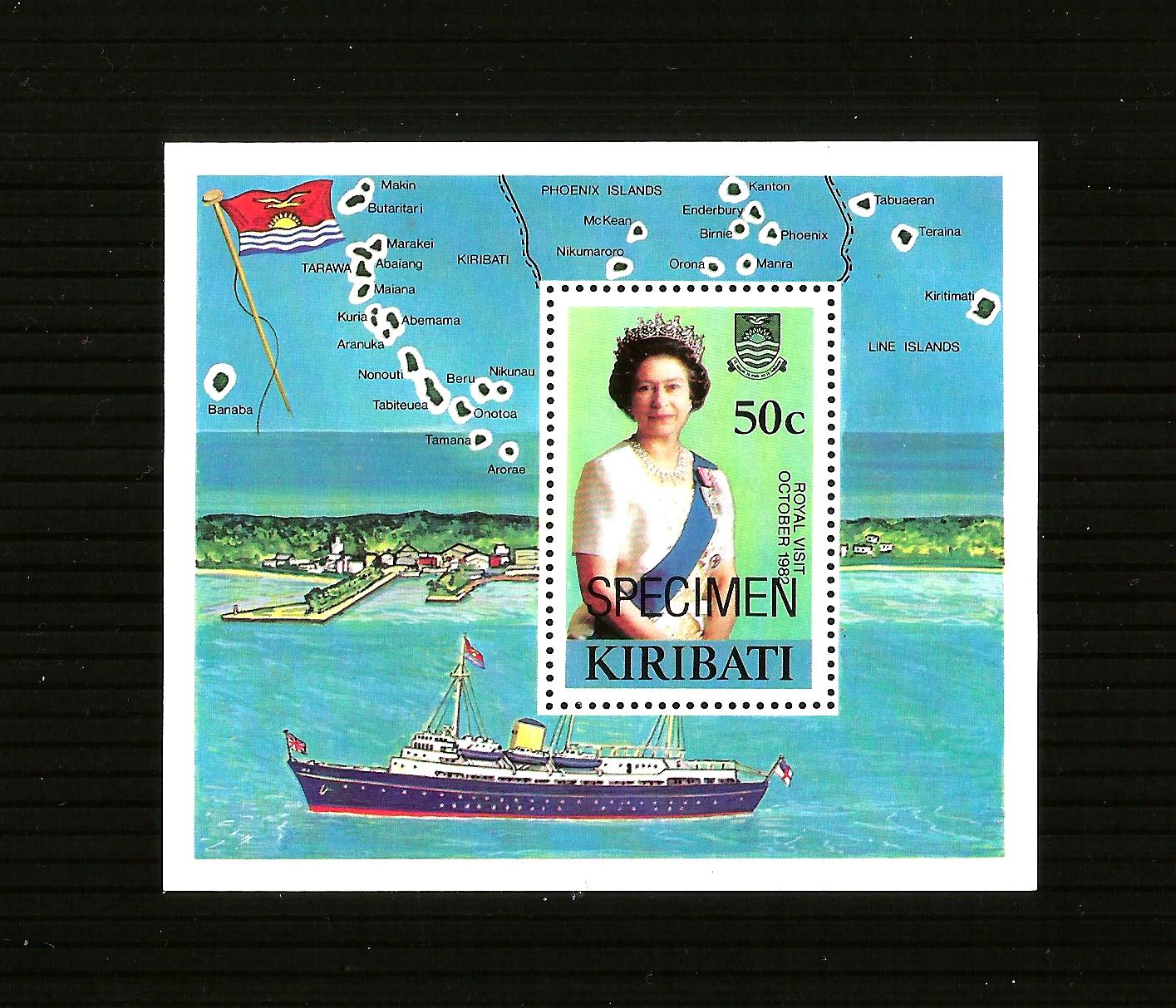 Kiribati MNH 1982 Royal Visit Queen Elizabeth II and Prince Phil