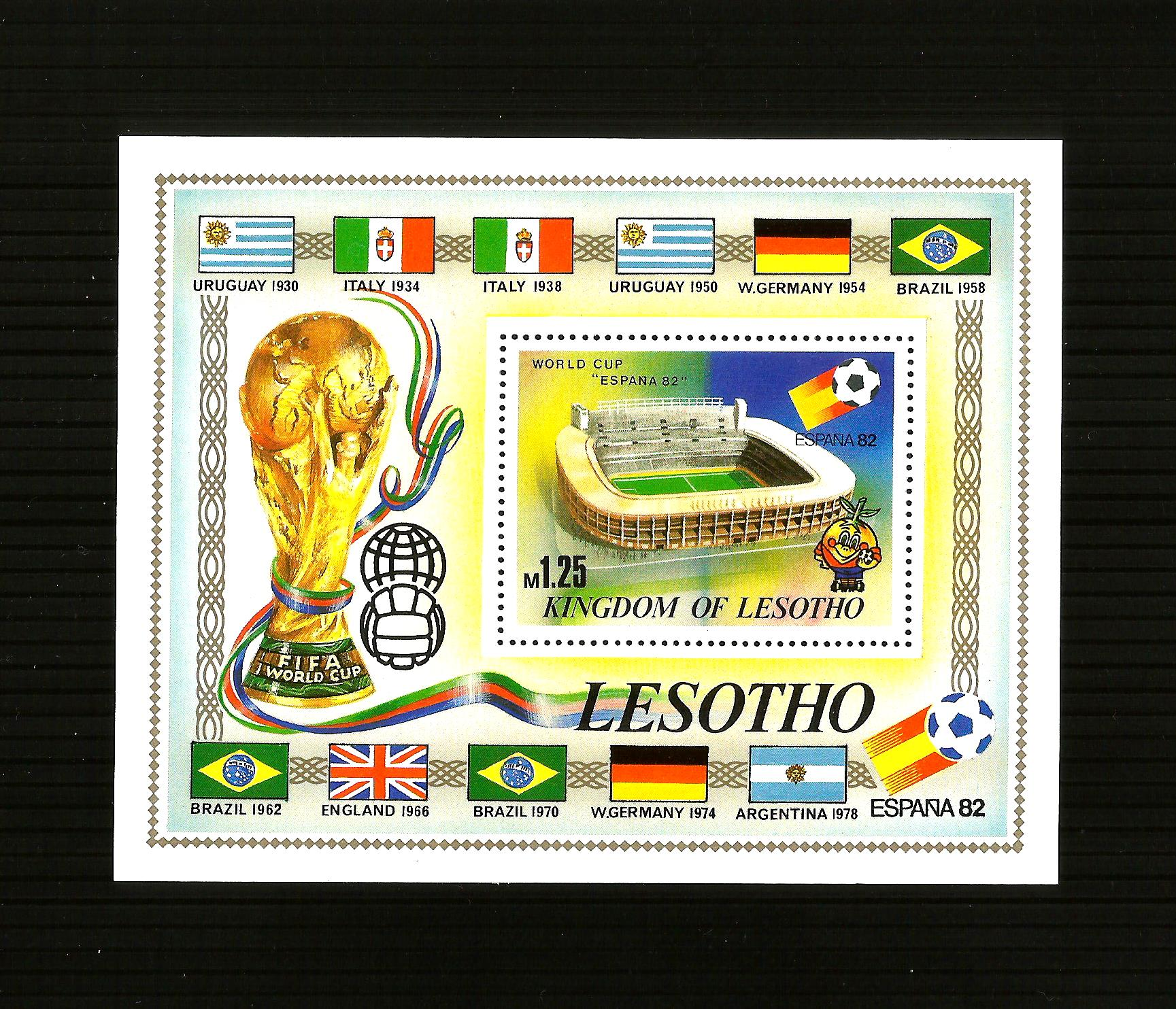 Lesotho 364 -  World Cup Stadiums Spain 1982. MNH