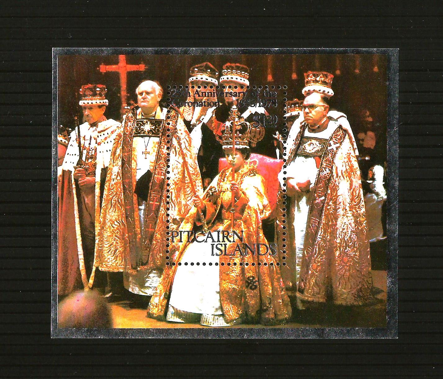 Pitcairn Islands - 1978 Coronation 25th Anniversary Miniature Sh