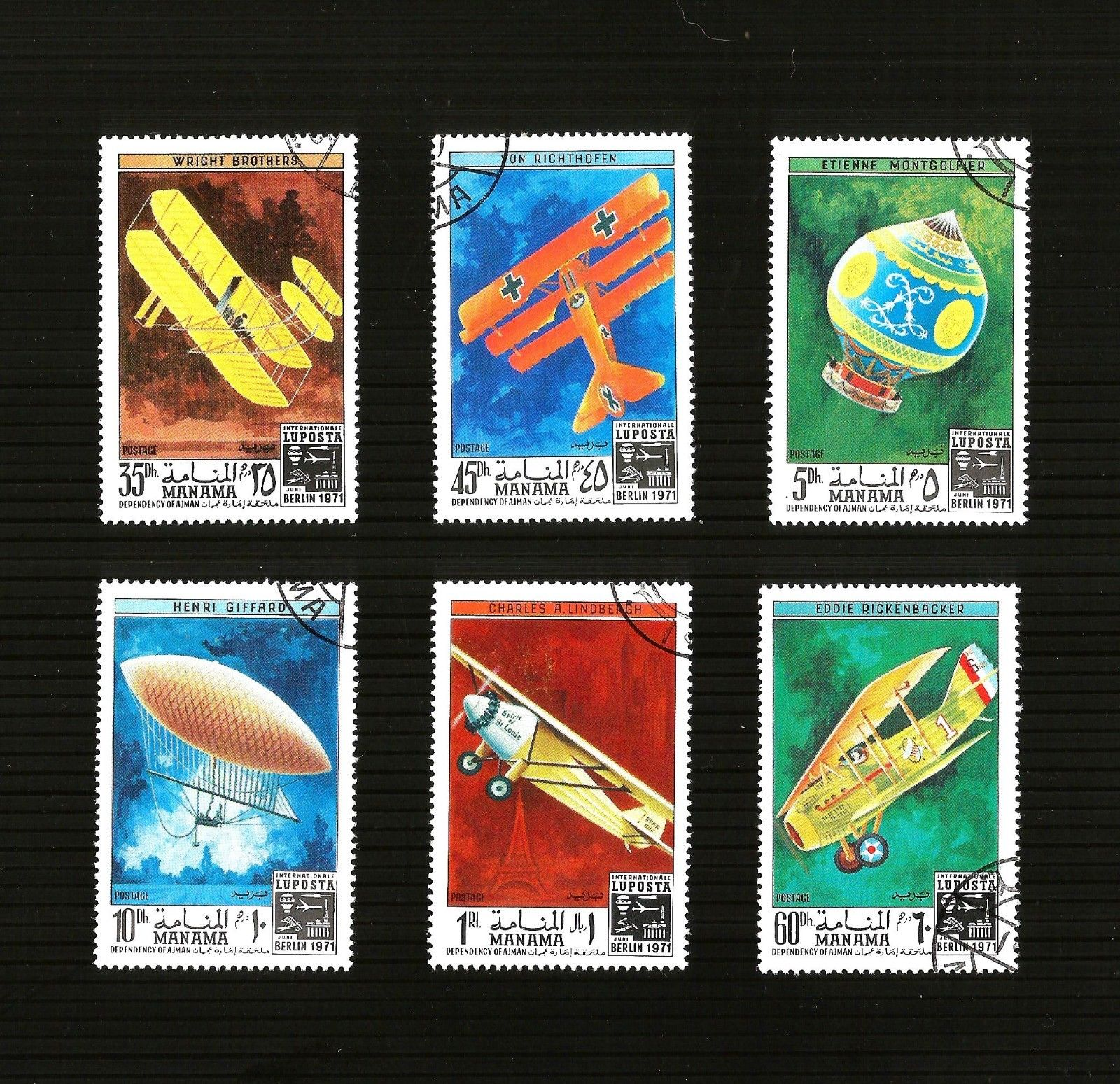 THEMATIC AIRCRAFT STAMPS CTO.... ALL SHOWN IN SCAN200 MIDDLE EAS